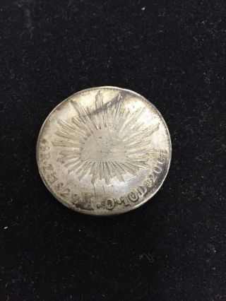 1829 8 Reales Mexican Silver Coin Rare ; Ungraded; See Photos photo