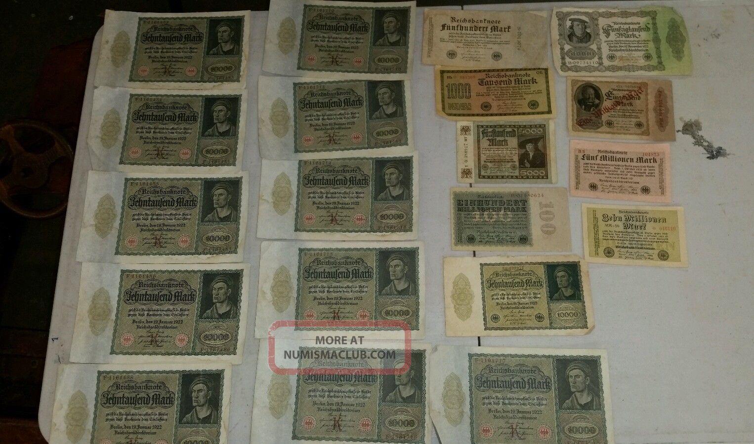 Reproduction UNC Germany 10 000 milliarden mark 1923