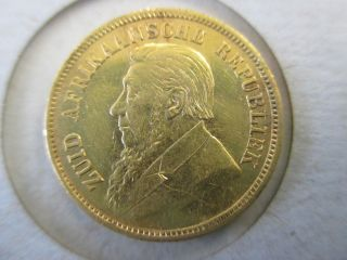 1897 South African 1/2 Pond Gold Coin,  Low Starting Price photo