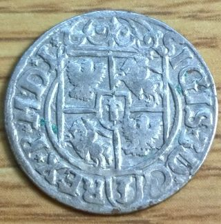 1620 ' S Silver 1/24 Thaler Rare Old Antique Renaissance Medieval Era Coin photo