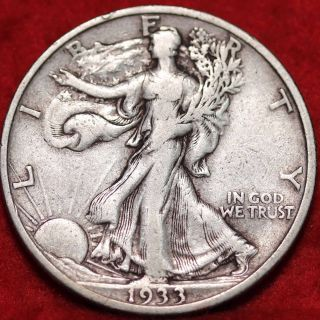 1933 - S San Francisco Silver Walking Liberty Half photo
