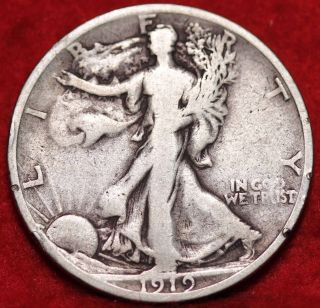 1919 - S San Francisco Silver Walking Liberty Half photo