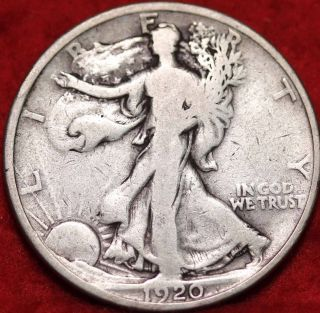 1920 Philadelphia Silver Walking Liberty Half photo