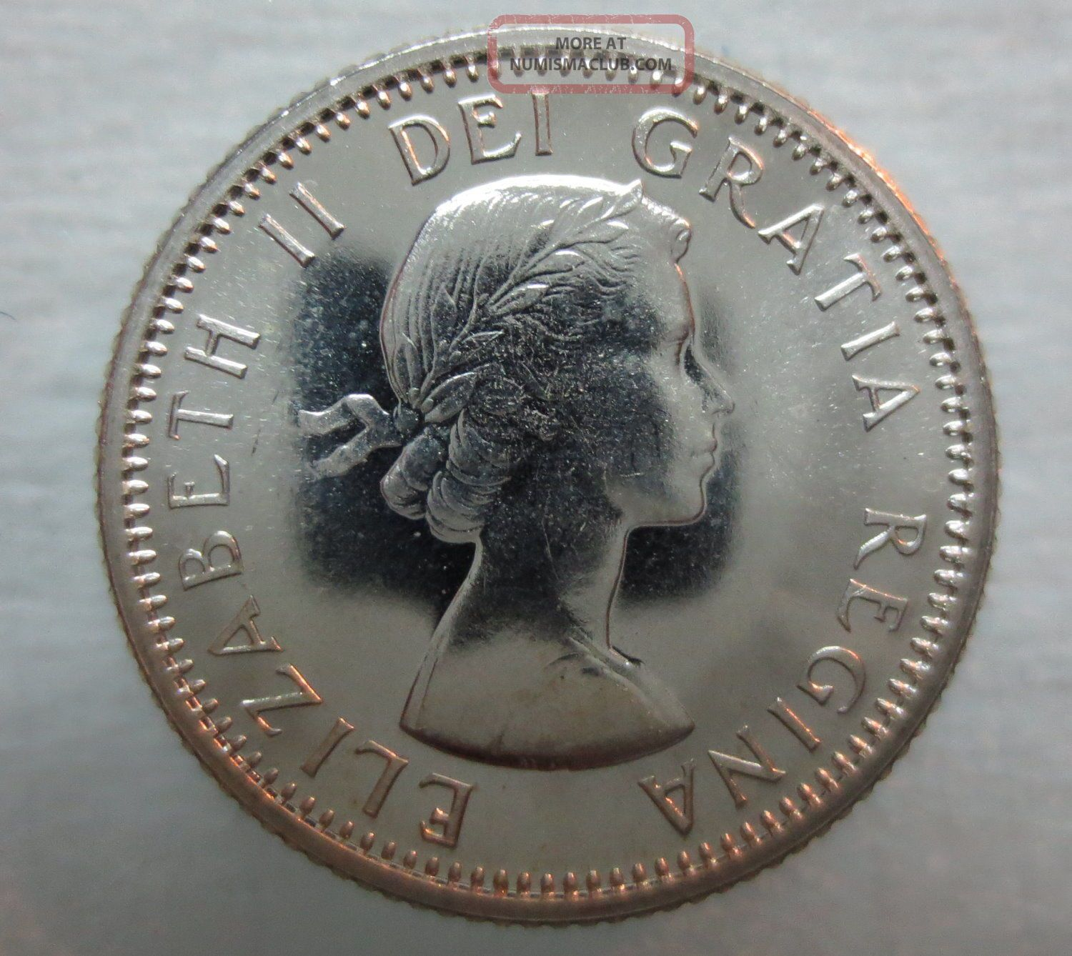 1964 Canada 10 Cents Proof Like Silver Coin