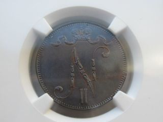 1898 Finland 5p Ngc Ms65 photo