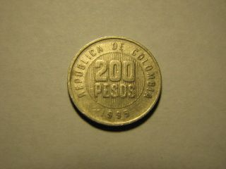1995 – Colombia – 200 Pesos Coin photo