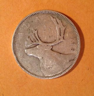 1948 Canada 25 Cents Quarter Silver No Tax King George Vl Hard To Find photo