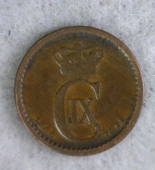Denmark 1 Ore 1888 Fine Coin (stock 0177) photo