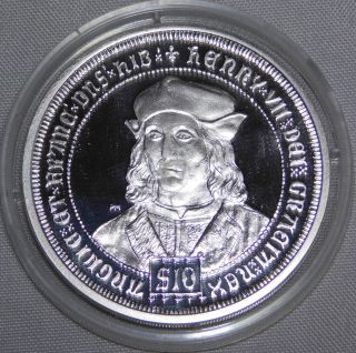 2008 King Henry Vii Great Monarchs Silver Proof Coin $10 British Virgin Isl.  Nr photo