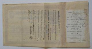 Andrew Mellon Signed 1891 Pittsburgh Virginia & Charleston Rwy Stock Certificate photo