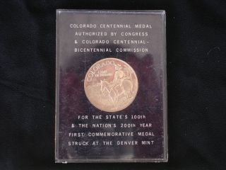 1976 Silver Colorado Centennial Us Bi - Centennial Authorized By Congress Denver photo