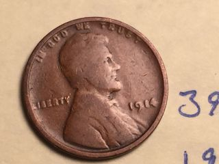 1914 1c Bn Lincoln Cent (395in) photo