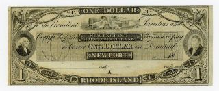 1800 ' S $1 The England Commercial Bank - Newport,  Rhode Island Note Cu photo