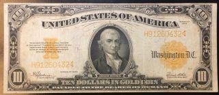 $10 Gold Seal Certificate Ten Dollar Bill 1922 White Speelman Note 2243 photo