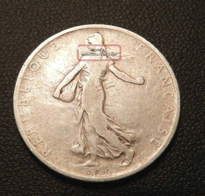 1901 France Franc - Great Old Silver Coin - See Pictures Europe photo