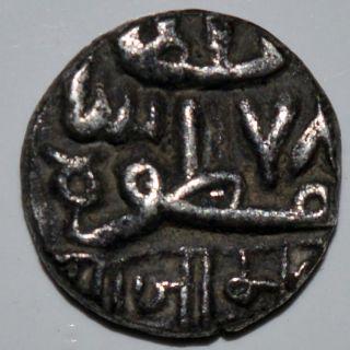 Indian Princely State Nawanagar Silver Kori Coin Very Rare - 2.  24gm photo