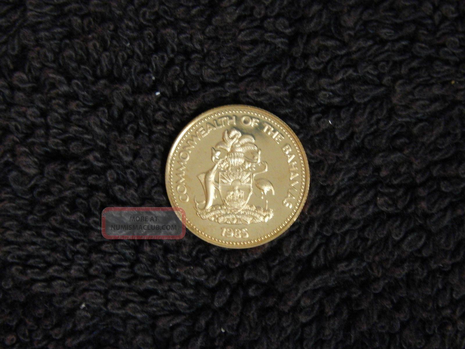 1985 Bahamas 50 Gold Coin W Box Quot Santa Maria