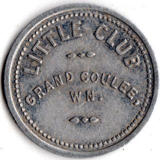 Grand Coulee Washington Little Club Merchant Good For Trade Token photo