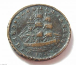 1841 Us Hard Times Copper Token - Daniel Webster Htt 18 photo