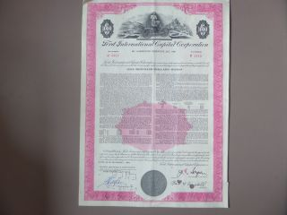 Ford International Capital Corporation Bond Certificate 1969 $1000 photo