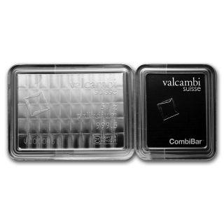 50x 1 Gram Palladium Valcambi Combibar™ - In Assay - Sku 75738 photo
