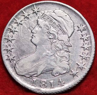 1814 Clashed Die 0 - 103 Philadelphia Silver Bust Half Dollar S/h photo