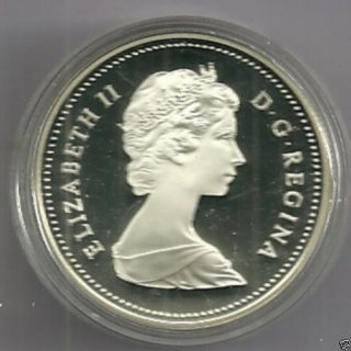 1834/1984 Proof Frosted Canada Silver Dollar Cameo Toronto photo
