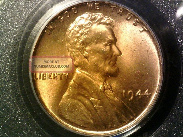 1944 Pcgs Ms66 Red Lincoln Cent Small Cents photo