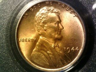 1944 Pcgs Ms66 Red Lincoln Cent photo