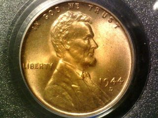 1944 D Pcgs Ms66 Red Lincoln Cent photo