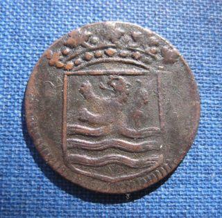 Netherlands East Indies Voc (indonesia) Zeeland Duit 1753 photo