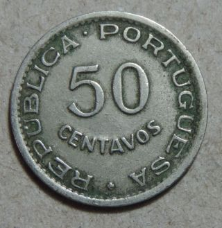 Angola 50 Centavos 1950 Nickel Km 72 photo