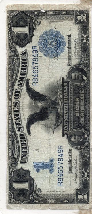 1899 Black Eagle Highly Demand Collectible Antique Paper $1.  Start Real Bids N R photo