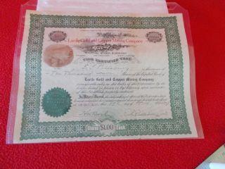 Arizona Territory Mining Share Certificate,  April 1909 photo
