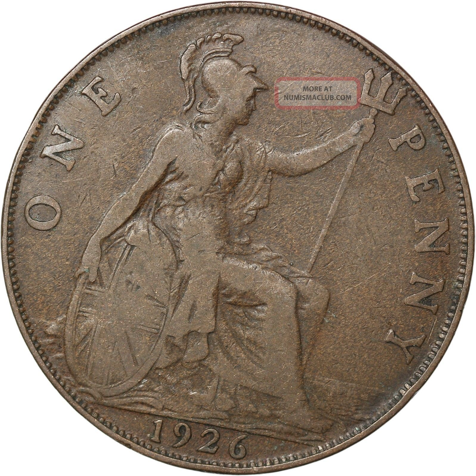Great Britain Penny,  1926 UK (Great Britain) photo