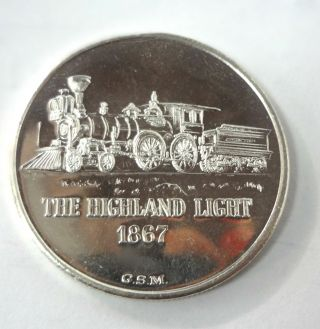 G.  S.  M Eagle 1867 The Highland Light 1 Oz.  999 Fine Silver Commemorative Round photo
