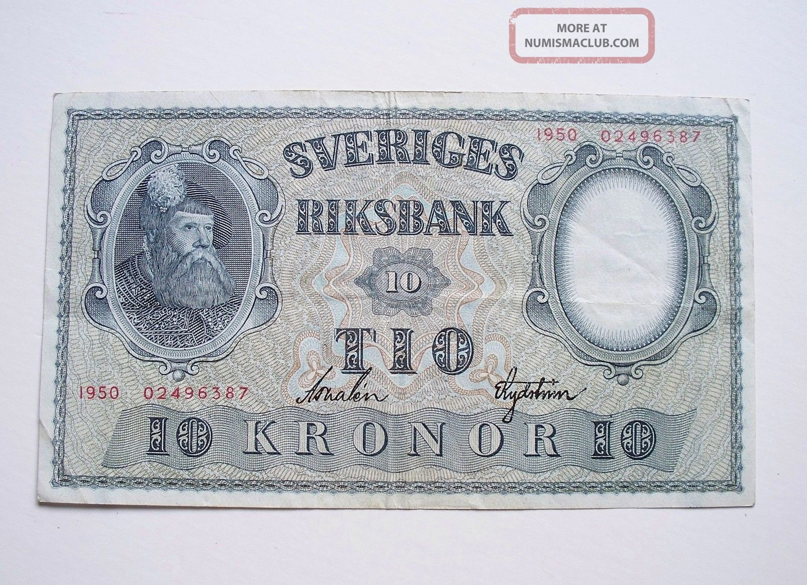 Sweden 10 Kronor 1950 / P - 40k Europe photo