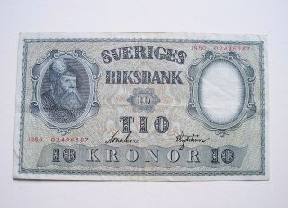 Sweden 10 Kronor 1950 / P - 40k photo