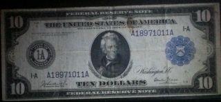 1914 Ten Dollar Note photo