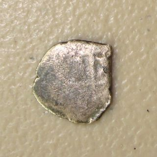 1668 Silver 1/2 Real Cob Recovered From The Consolacion Shipwreck,  Potosi photo