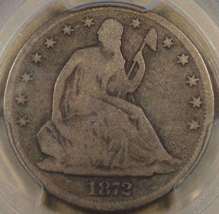1872 - Cc Liberty Seated Half Dollar Pcgs G6 Coin photo