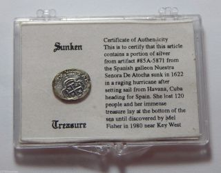 1622 Shipwreck Silver Token Recovered From Ship Nuestra Senora De Atocha photo
