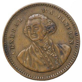 1850 ' S George Washington Lauer Buremburg Germany Spiel Munz Game Counter Token photo