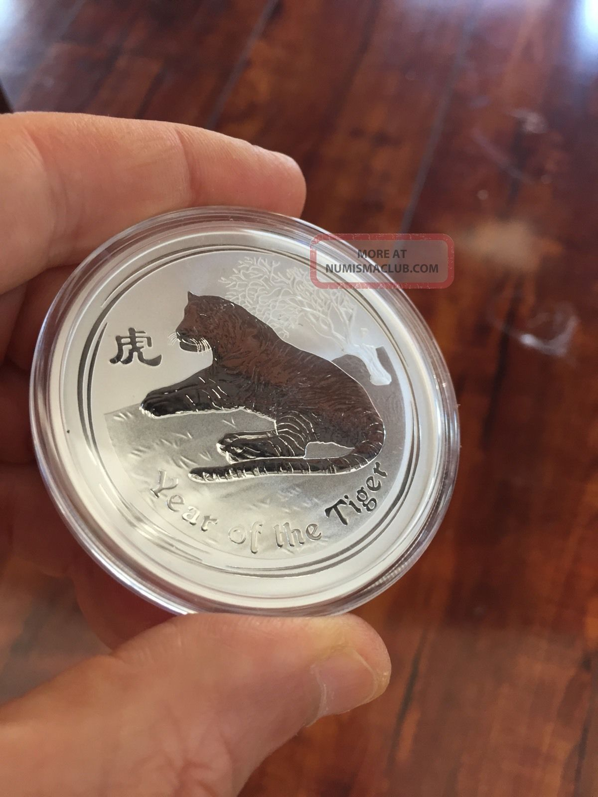 2010 Silver Lunar 2 Troy Ounce Tiger Rare Australia From Plastic Coins: World photo