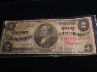 1891 Silver Certificate $2 William Windom Note photo