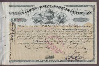 Washington Augustus Roebling (1837 – 1926) Signed Railroad Stock Certificate photo