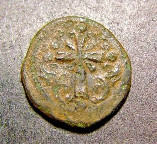 Nicephorus Iii,  Latin Cross,  Christian Crusades,  Ancient Byzantine Emperor Coin photo