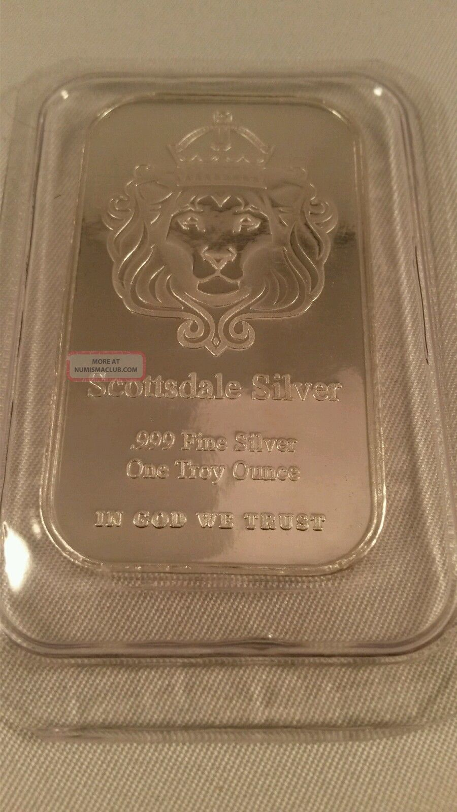 1 Troy Ounce Silver Bar Scottsdale 1 Oz 999 Fine Silver
