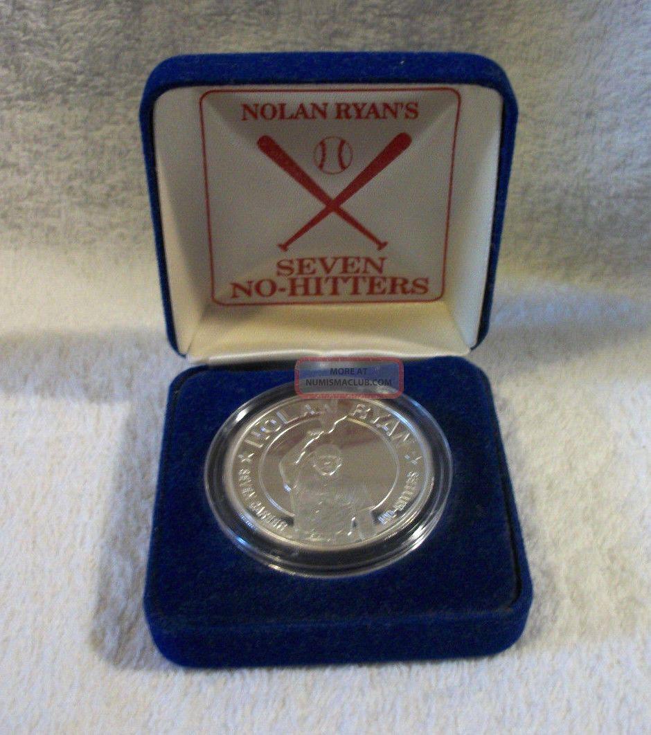 Nolan Ryan 7 No Hitters Commemorative 1 Ounce 999