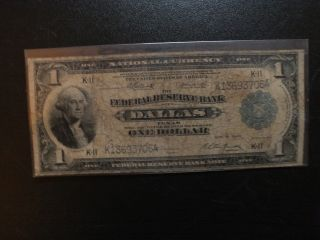 Series Of 1918 $1 Frb Of Dallas National Currency photo